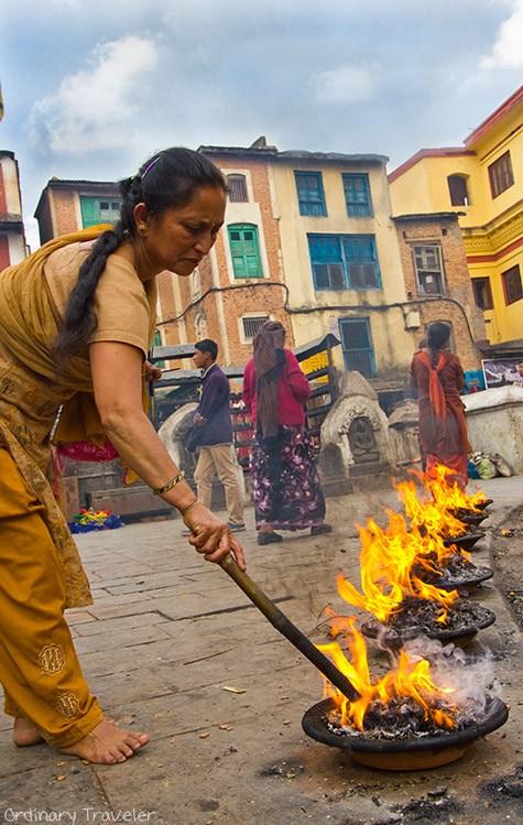 Lakh Batti Ceremony at Soyambhu Temple in Kathmandu
