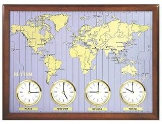 Timezone Wall Clock - Travel Home Decor