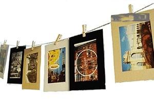 Postcard Display - Travel Home Decor