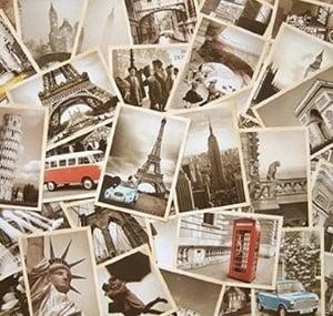 Vintage Postcards - Travel Home Decor