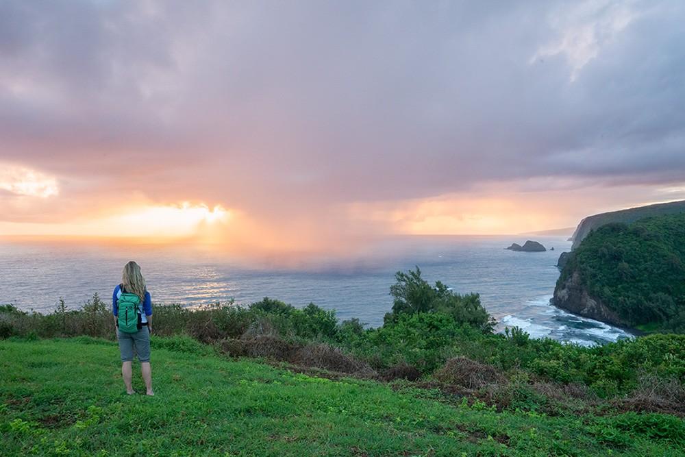 Big Island Hawaii Pololu Valley Lookout Sunrise