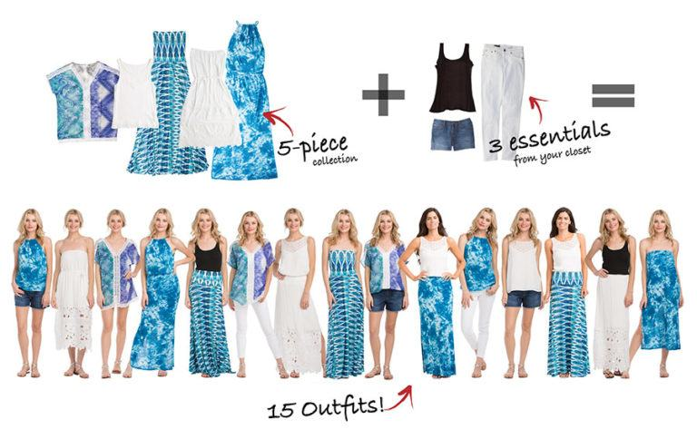 VacayStyle: How to Get 15 Outfits From 5 Pieces of Clothing