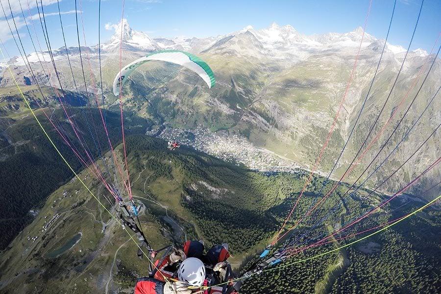 Paragliding in Zermatt, Switzerland
