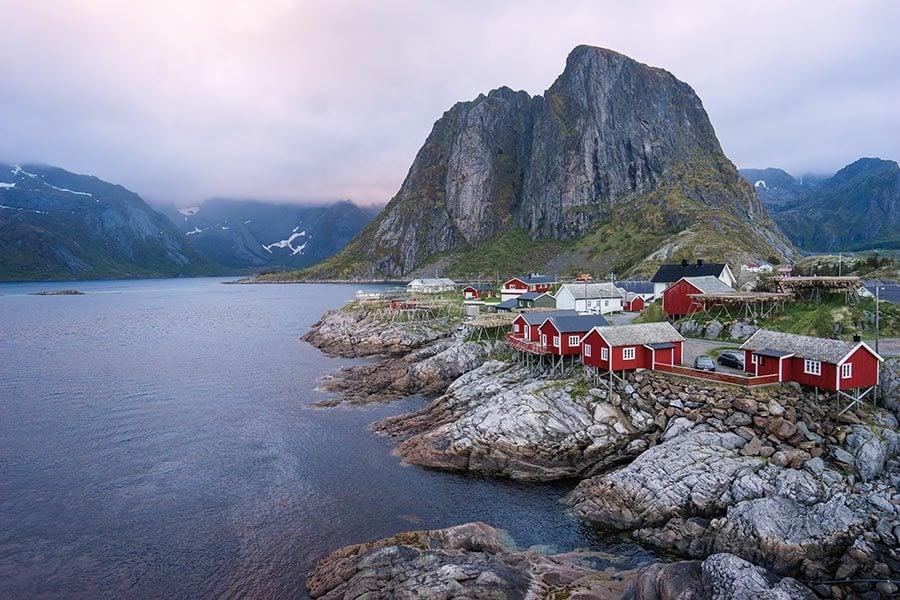 Eliassen Rorbuer in Lofoten Islands, Norway