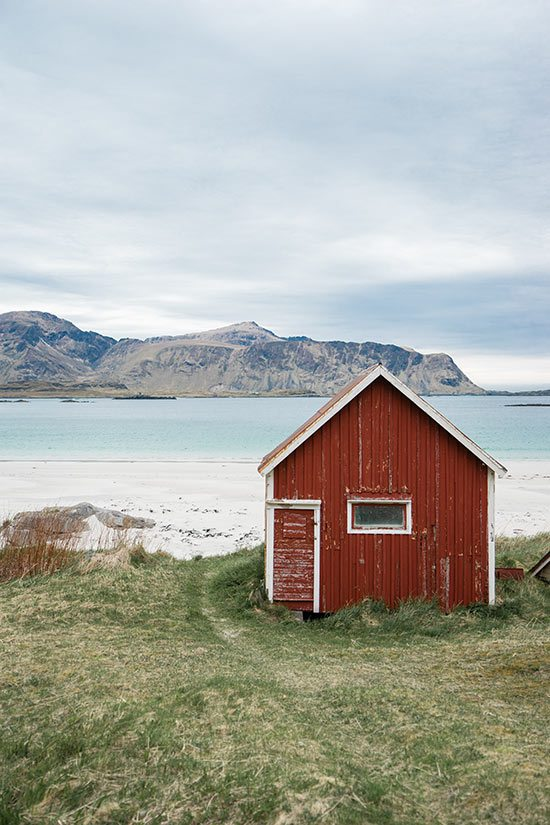 Ramberg Beach in Lofoten Islands, Norway
