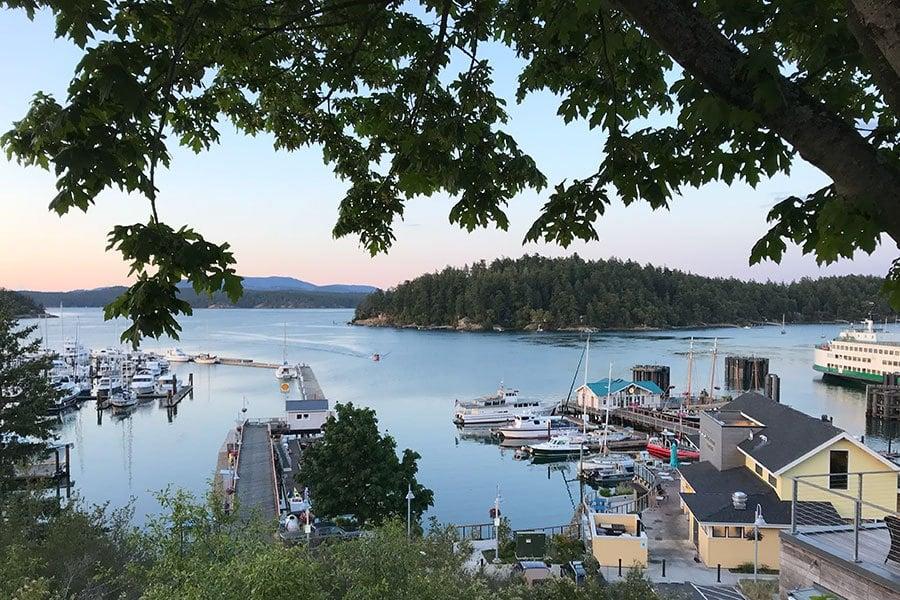 Friday Harbor on San Juan Island, Washington