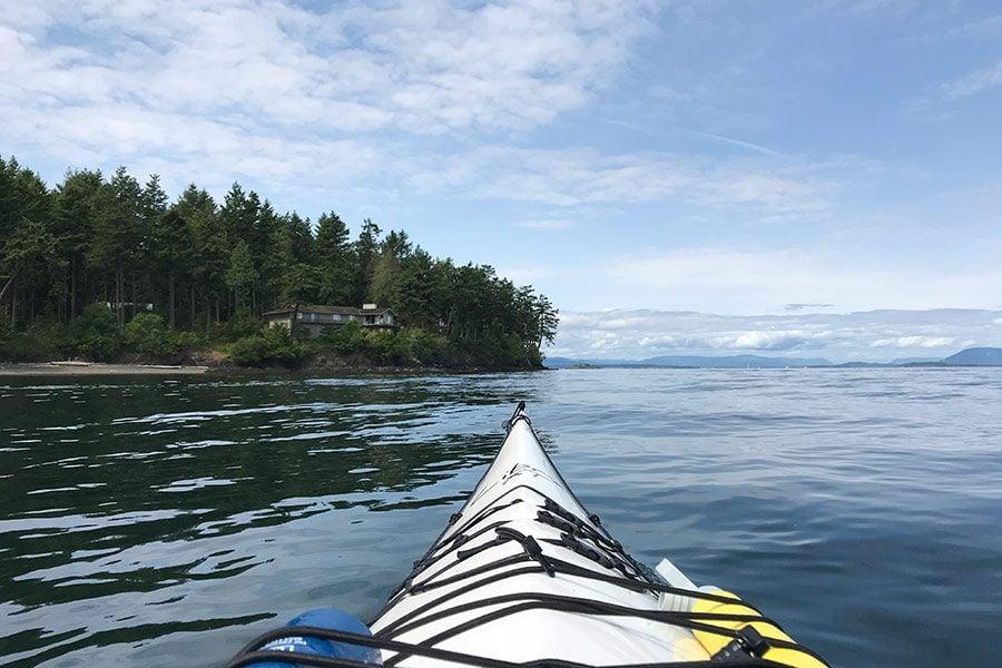 Kayaking on San Juan Island, Washington