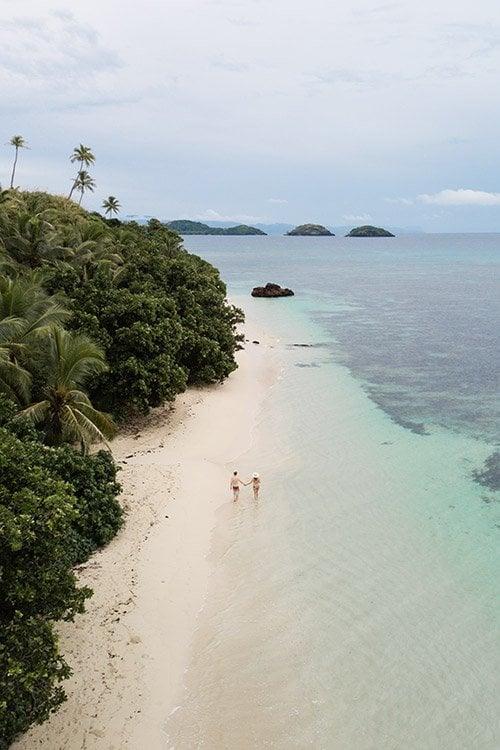 Dravuni Island, Fiji Beach on South Pacific Cruise