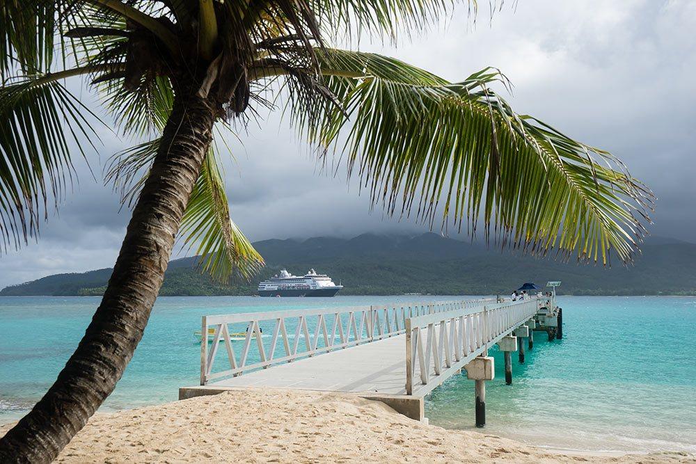Maasdam Holland America Ship Anchored on Mystery Island, Vanuatu