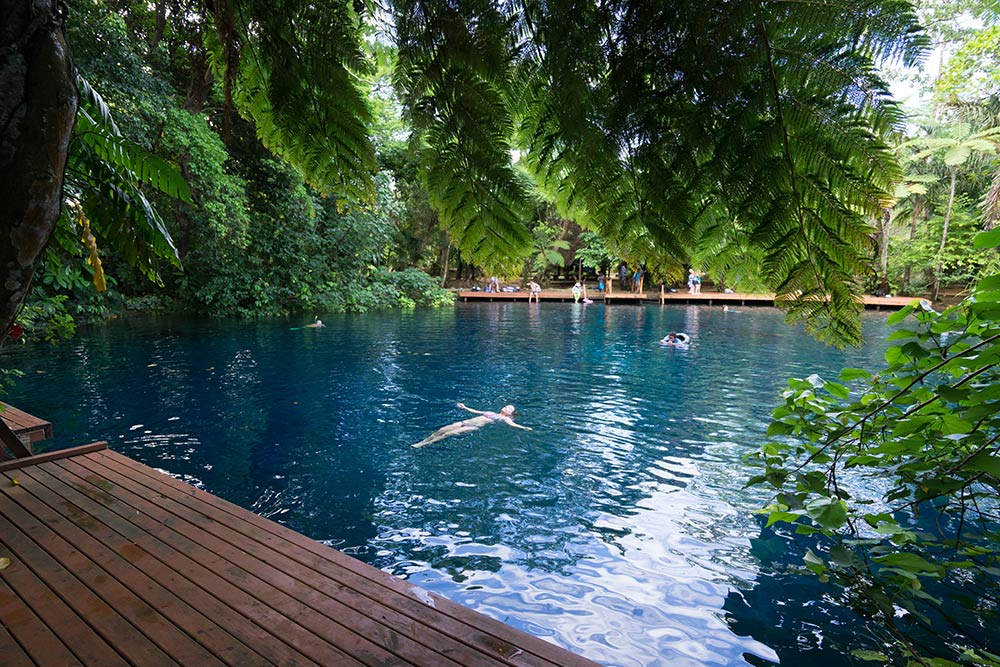 Blue Hole in Luganville, Vanuatu on South Pacific Cruise